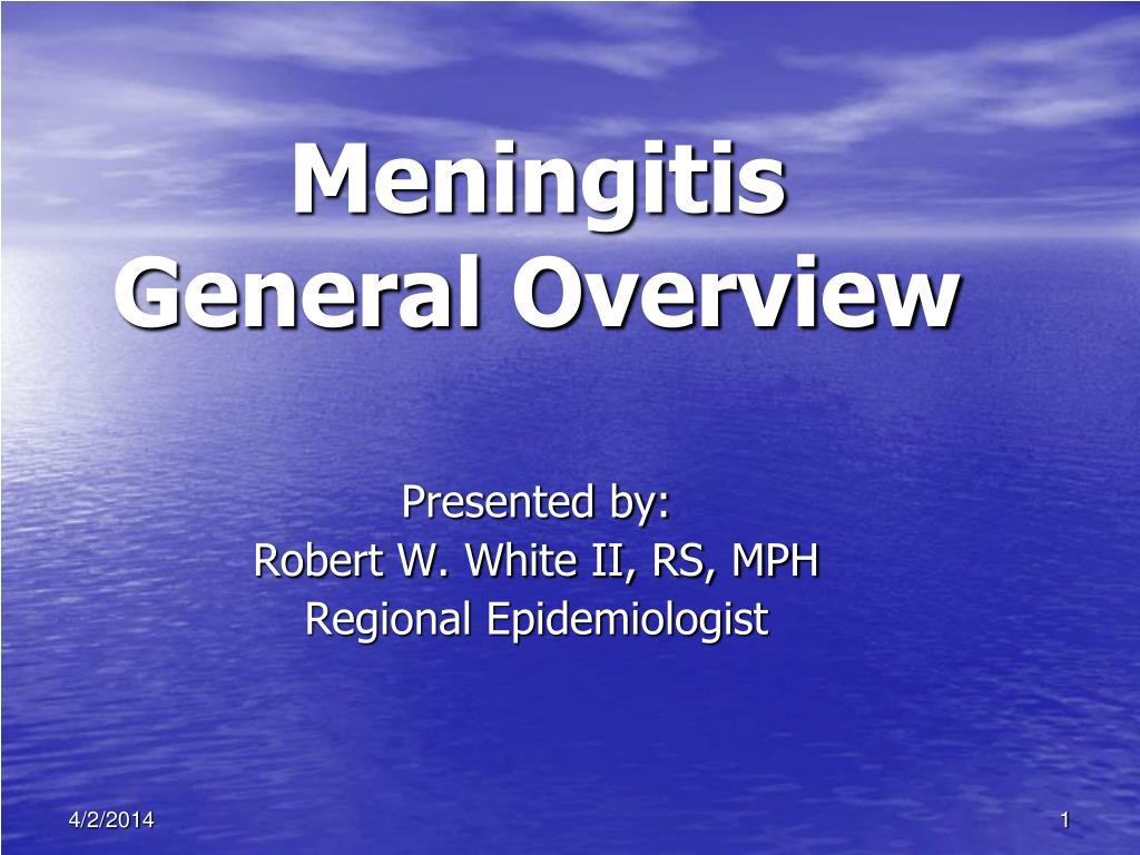 meningitis general overview l.