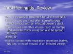 viral meningitis review
