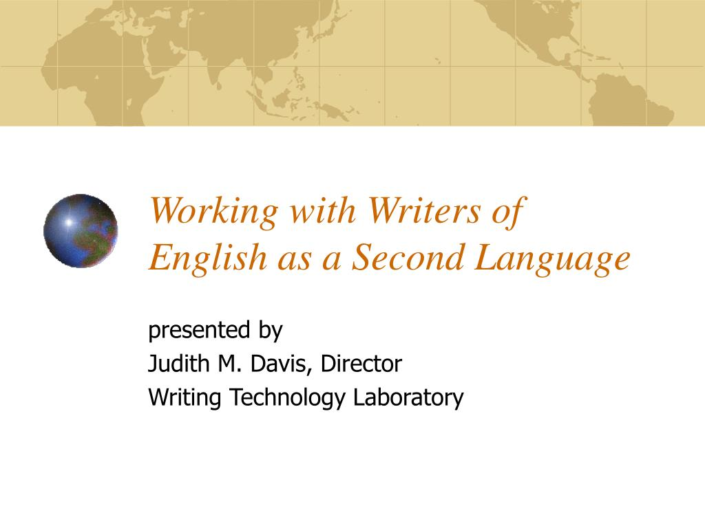 working with writers of english as a second language l.