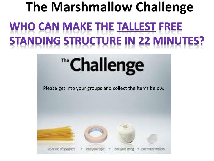 the marshmallow challenge n.