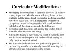 curricular modifications