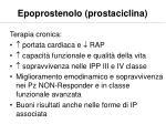 epoprostenolo prostaciclina