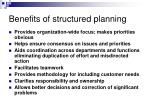 benefits of structured planning