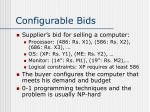 configurable bids