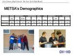 metsa s demographics