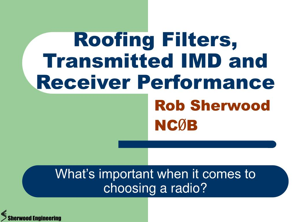 roofing filters transmitted imd and receiver performance l.