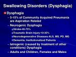 swallowing disorders dysphagia