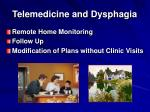 telemedicine and dysphagia