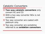 catalytic converters80