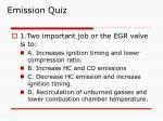 emission quiz