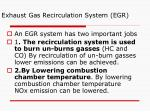 exhaust gas recirculation system egr