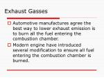 exhaust gasses19