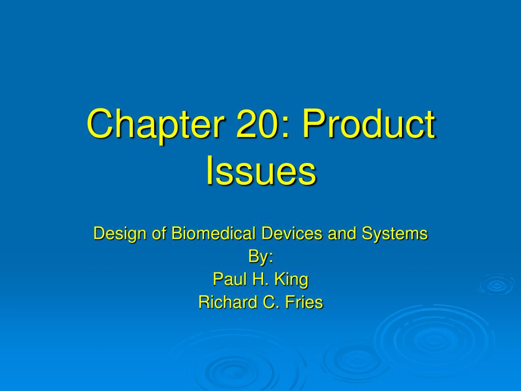 chapter 20 product issues l.