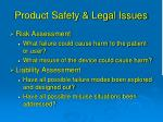 product safety legal issues