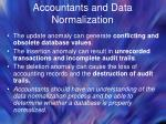 accountants and data normalization