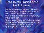 concurrency problems and control issues