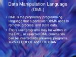 data manipulation language dml