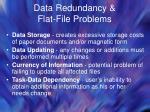 data redundancy flat file problems