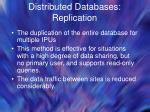 distributed databases replication