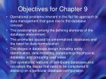 objectives for chapter 9