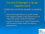 current challenges in surge capacity cont27