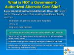what is not a government authorized alternate care site