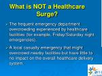 what is not a healthcare surge