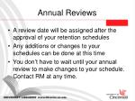 annual reviews