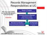 records management responsibilities at uc