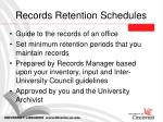 records retention schedules