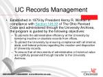 uc records management