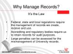 why manage records