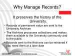 why manage records9