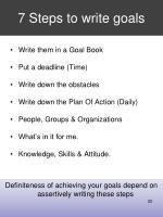 7 steps to write goals