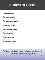 8 kinds of goals