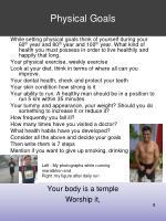 physical goals