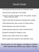 social goals