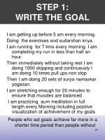 step 1 write the goal