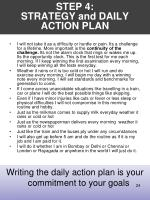 step 4 strategy and daily action plan