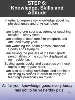 step 6 knowledge skills and attitude
