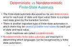 deterministic vs nondeterministic finite state automata