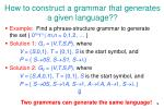how to construct a grammar that generates a given language18