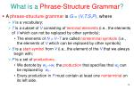 what is a phrase structure grammar