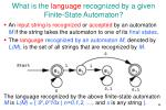 what is the language recognized by a given finite state automaton
