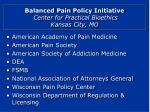 balanced pain policy initiative center for practical bioethics kansas city mo