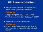 nih research initiatives