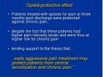 opioid protective effect