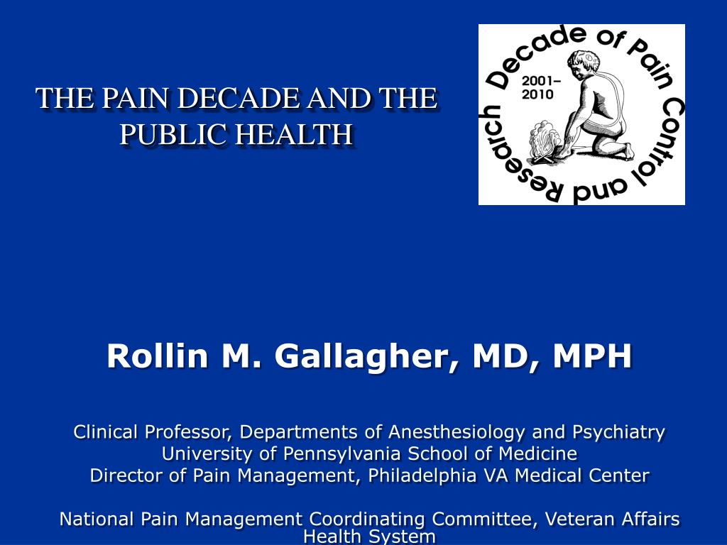 the pain decade and the public health l.