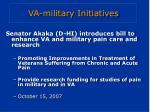 va military initiatives