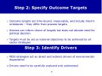 step 2 specify outcome targets